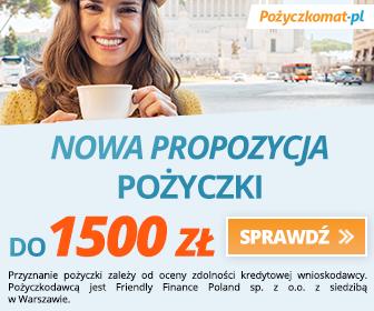 Pożyczkomat - nowa promocja pożyczki - 1500 zł za darmo!