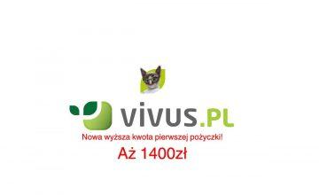 Promocja Vivus - pożyczka do 1400 zł za darmo