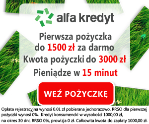 Alfa Kredyt - 1500 zł za darmo