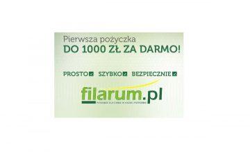 Nowa promocja w Filarum - teraz nawet 1000 zł za darmo