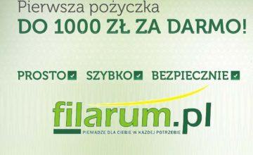 Filarum - promocja 1000 zł za darmo przy pierwszej pożyczce