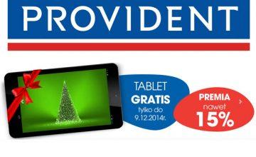 Provident - promocja na tablet i premie 15 procent