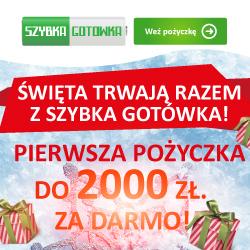 Szybka gotówka do końca stycznia 2000 zł gratis
