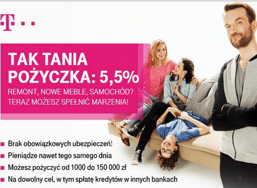 T-mobile - pożyczka gotówkowa do 150 000 zł
