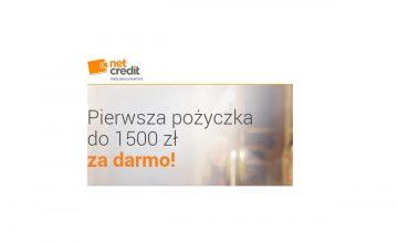 Net Credit - 1500 zł za darmo i obniżenie wieku minimalnego