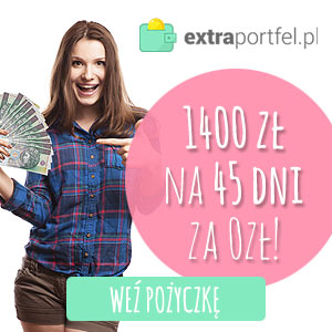 Extra portfel - pożyczka bez odesetek na 30 dni - aż 1400 zł