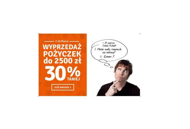 Pożyczka plus - WYPRZEDAŻ! Wszystkie pożyczki 30% TANIEJ