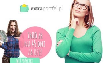 Extraportfel - 1400 zł na 45 dni za darmo na 0%