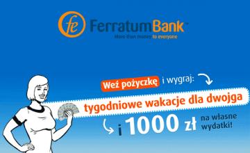 Ferratum Bank - wygraj wakacje dla dwojga!