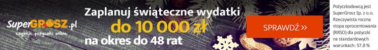 Zaplanuj świąteczne wydatki do 10000 PLN w Super Grosz