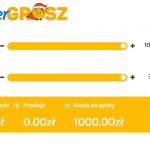 Super Grosz - pierwsze 1000 zł za darmo