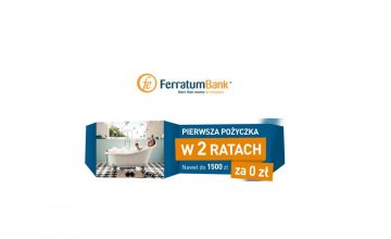 Ferratum Bank- 1500 zł w 2 ratach za 0 zł