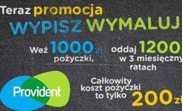 Provident - promocja Wypisz/wymaluj