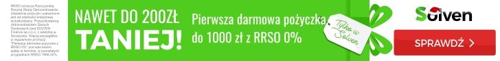 Solven - pierwsza darmowa pożyczka do 1000 zł