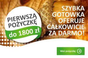 Promocja w SZybkiej Gotówce - 1800 zł za darmo!