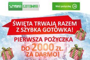 Szybka gotówka - święta trwają dalej - 2000 zł za darmo