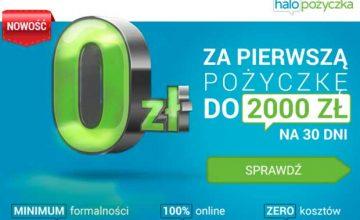2000 zł za darmo na 30 dni w promocji Halo Pożyczki