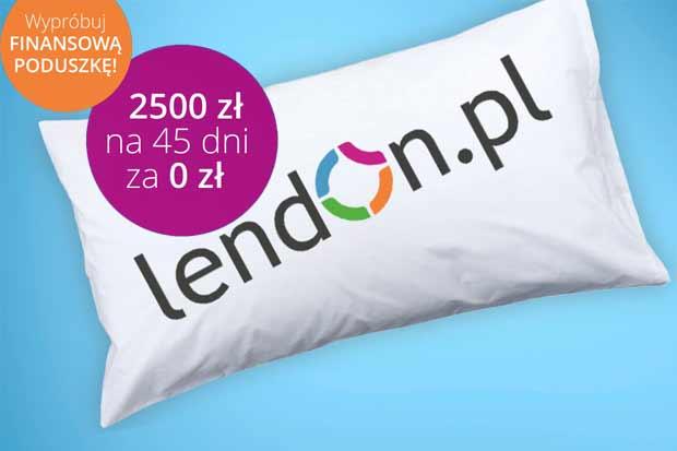 Nawet do 2500 zł za darmo w LendOn!