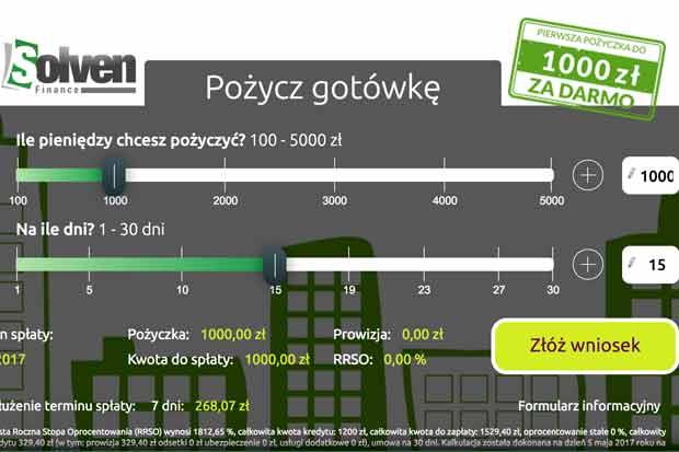 1000 zł darmowej pożyczki w Solven wnioskując przez pozyczkaportal.pl!