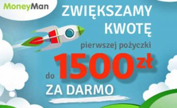 Moneyman z darmową chwilówką aż 1500 zł