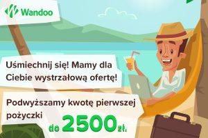 darmowa chwilówka na 2500 zł w Wandoo