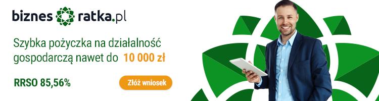 Pożyczka do 20000 zł na działalność gospodarczą od Biznes ratka.pl