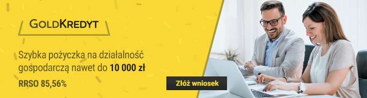 Pożyczka do 20000 zł na działalność gospodarczą od GoldKredyt.pl