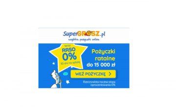 Atrakcyjna promocja Super Grosz - teraz RRSO 0%