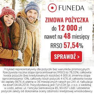 Funeda - Zimowa Pożyczka nawet do 12 000 złotych na 48 miesięcy