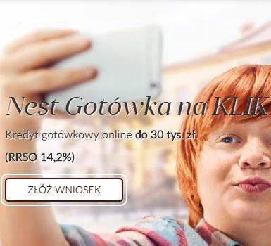 Nest Bank gotówka na KLIK do 30 tys. zł