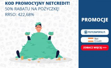 Pożyczka w NetCredit 50 proc. taniej dzięki Pozyczkaportal!