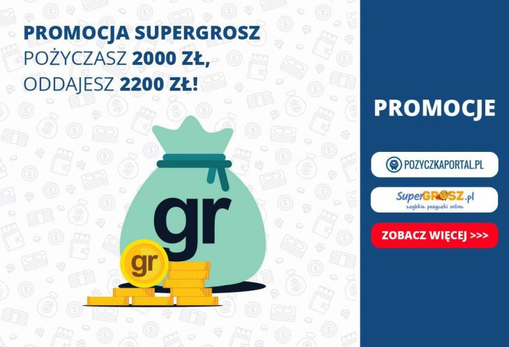 SuperGrosz z nową promocją! Niski koszt przy szybszej spłacie pożyczki!
