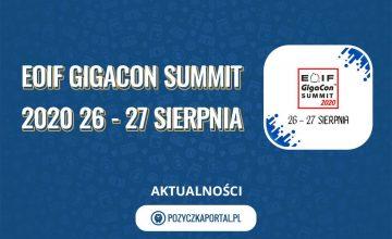 Udział w konferencji Summit EOIF GigaCon 2020, jest bezpłatny!