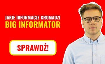 Jakie informacje gromadzi BIG InfoMonitor?