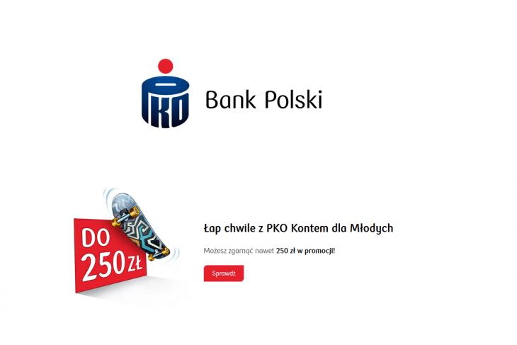 Jak otrzymać 250 zł premii za Konto dla Młodych w PKO BP?